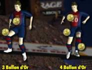 Messi et ses ballons d'or