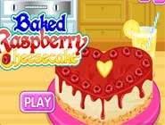 Baked Raspberry Cheesecake