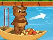 Ours lance des poissons