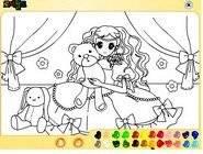Teddybear Girl Coloring