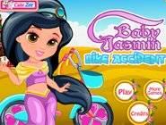 Bébé Jasmine Accident Vélo