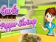 jeu gratuit ecole de cuisine sara : crevettes
