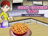 Ecole de cuisine Sara : Tarte à la rhubarbe