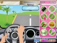 Barbie Driving Slacking