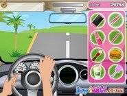 Barbie conduit une Voiture