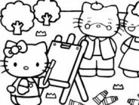 Jeu hello kitty coloriage gratuit sur - Hello kitty coloriage jeux ...