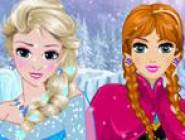 Coiffure Elsa et Anna Reine des Neiges