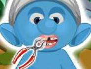 Bébé Schtroumpf Dentiste