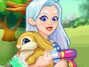 Crystal adopte un lapin