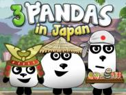 Three Pandas in Japan