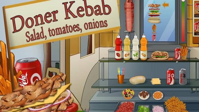 Döner Kebab : salade, tomate, oignons