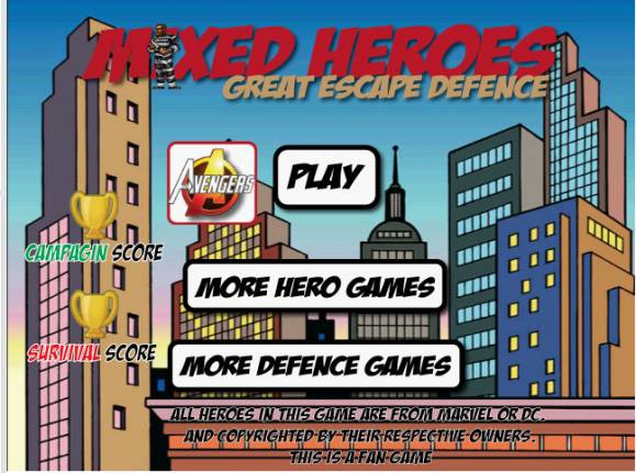 Mixed heroes : Great escape defense