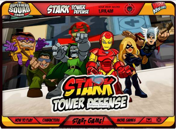 Avengers : Stark tower defense