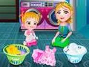 Baby Hazel Laundry Day
