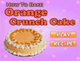 Orange Crunch Cake Games