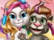 Talking Tom and Angela Haircuts